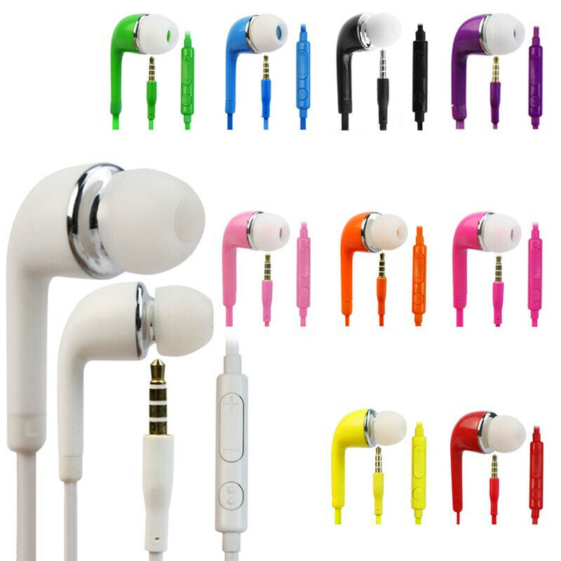 Universal 3.5mm Headset Earphones Headphones with Remote & Mic for Cell Phones Cell Phone Accessories