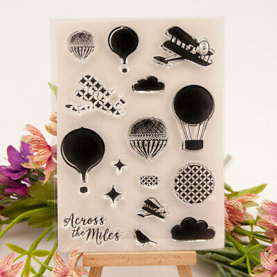 Hot Air Balloon Clear Transparent Rubber Stamp and Cutting Dies DIY Scrapbooking
