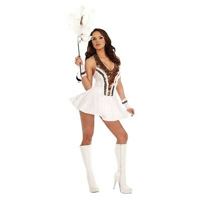 Lady SNOW OWL Costume Native American Dress Adult Large 10 12 14 Indian - Ladies Owl Costume