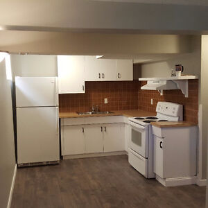 Renovated basement suite 1 block from the river valley