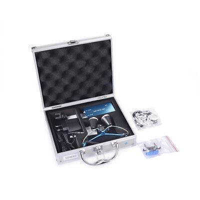 Led Dental Headlight Lamp Surgical Medical Binocular Loupe Set 3.5x 420mm