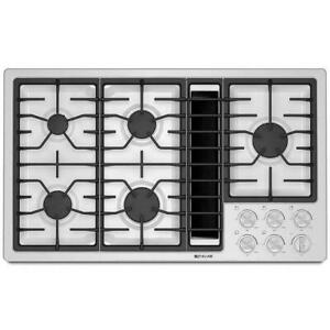 Jenn Air cooktop, gas with integrated hood, 36