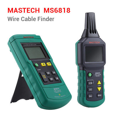 Ms6818 Mastech Wire Cable Finder Locator Line Metal Pipe 12v-400v Acdc Tester