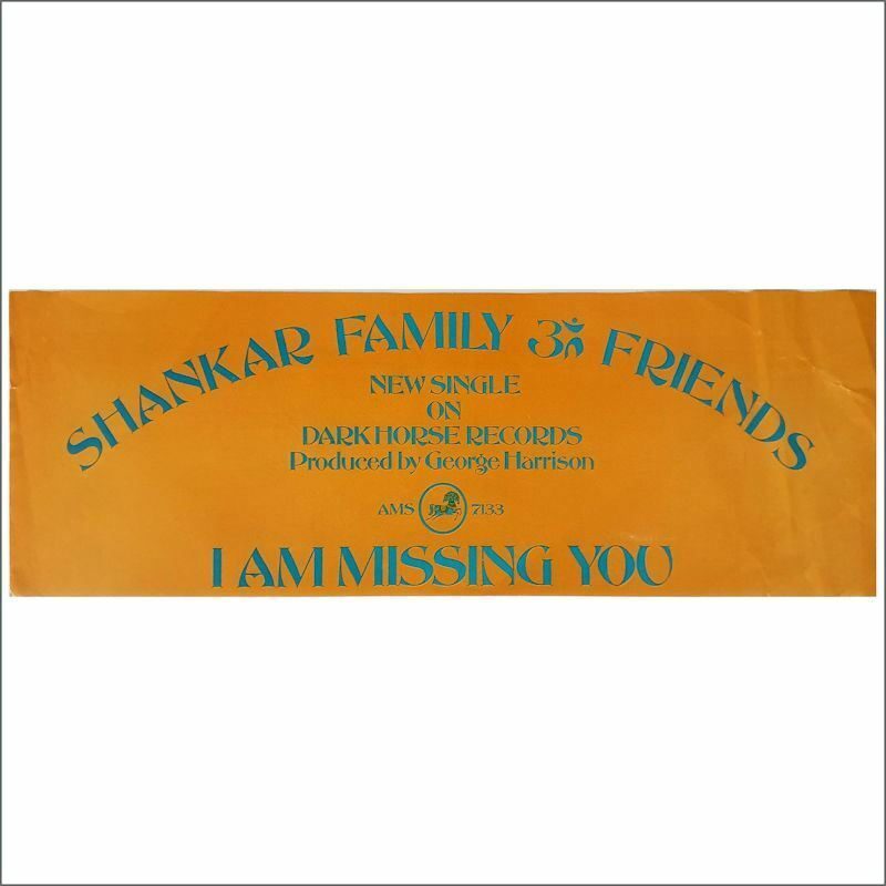 Shankar Family & Friends 74 I Am Missing You Dark Horse Promo Banner (USA)