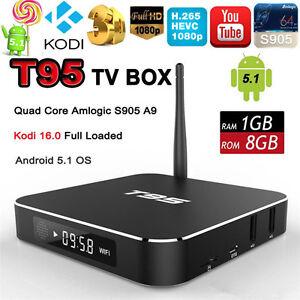 Android 5.1 T95 Amlogic S905 Smart TV Box Quad Core Kodi 16.1