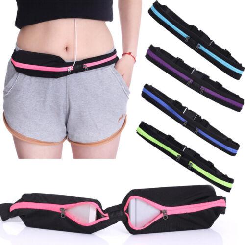 Dual Pocket Running Belt Phone Pouch Waist Bag Sports Travel