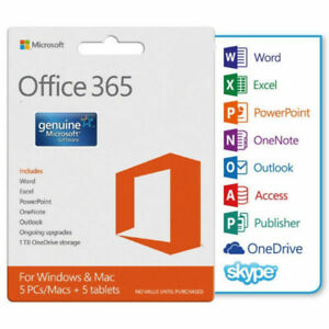 Microsoft Office 2016 Professional Plus Office 365 Mac & Mobile