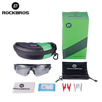 d4fa7f1a0aa ROCKBROS Photochromic Glasses Polarized Lense Goggles Eyewear Sunglasses  Black
