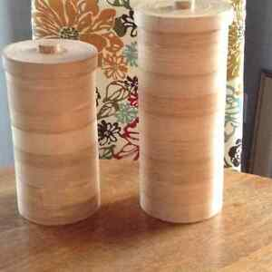 Bamboo canisters