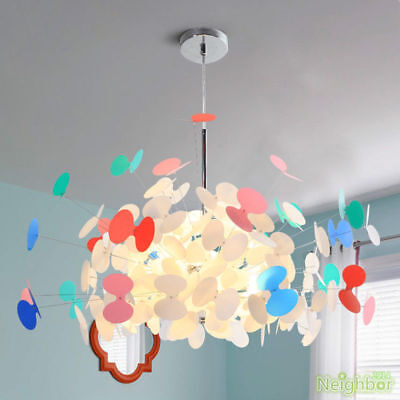 New colorful butterfly chandelier suspension hang pendant lamp LED ceiling - Butterfly Chandelier