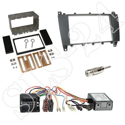 Mercedes C-Klasse W203 CL203 04/07-04/08 Doppel 2-DIN Blende+CAN-Bus Adapter Set