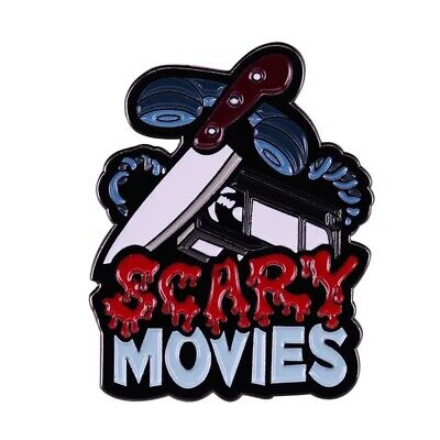 Scary Movies Enamel Pin Horror Gothic Creepy Scream Halloween Collectible Gift