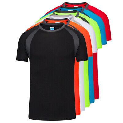 Basic Scoop Neck Tee (MensT-Shirt Short Sleeve Scoop Neck Sports Fitness Running Basic Tee Top Shirts)