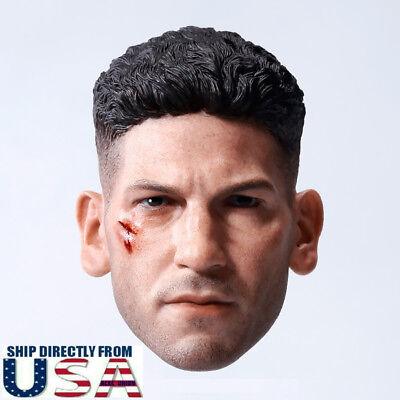 1/6 CUSTOM Punisher Head Sculpt Jon Bernthal For Hot Toys PHICEN Male Figure USA