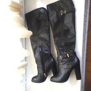Women's Aldo Leather Boots Size 6