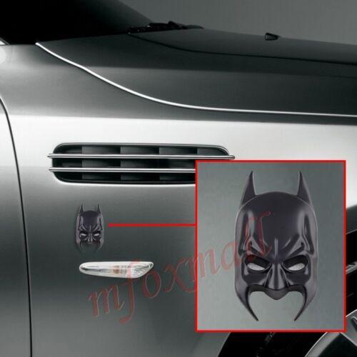 Auto Accessories Decorate 3D Batman Emblem Badge Logo Decal Sticker Trim Black