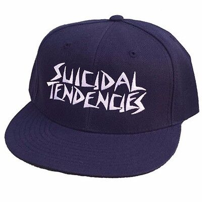 f78a3253 Dogtown X Suicidal Tendencies OG EMBROIDERED LOGO Snapback Skateboard Hat  NAVY