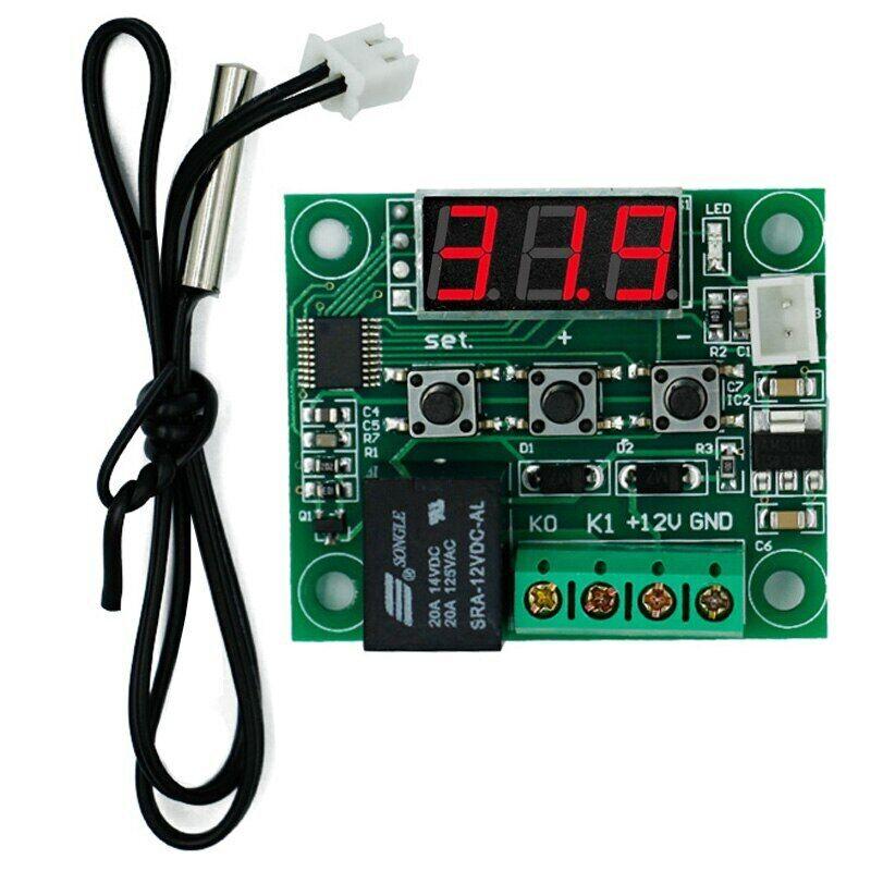 W1209 12V DC digital Thermostat Temperaturschalter -Regler LED Anzeige + Gehäuse