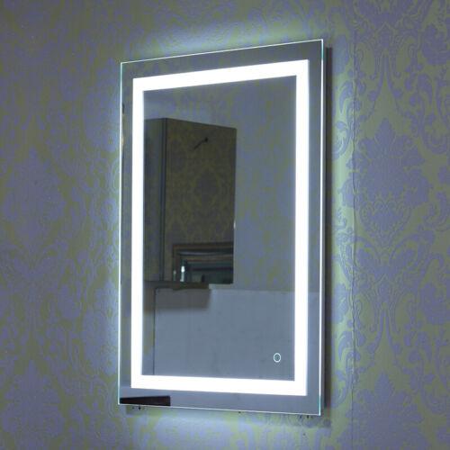 Badspiegel LED Badezimmerspiegel Beleuchtet Bad Spiegel Wandspiegel 50x70