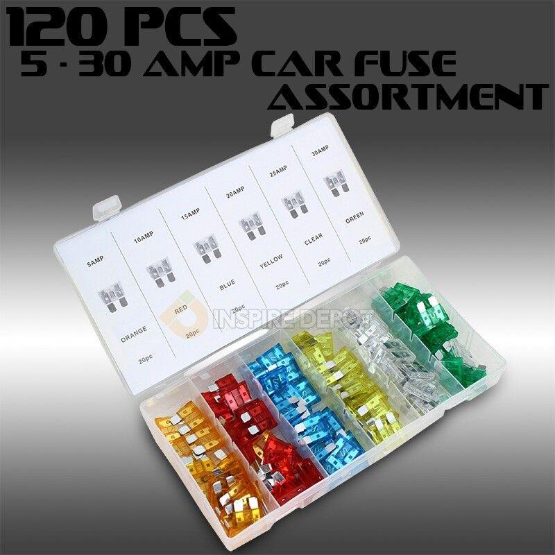 120 pc Assorted Car Fuse Auto Trucks SUV