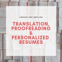 Translation proofreading and resume