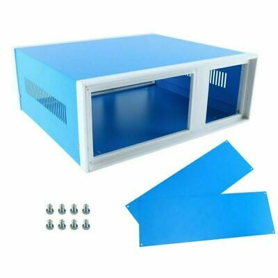 12.2 X 11.2 X 4.3 Blue Metal Enclosure Project Case Diy Project Box Case