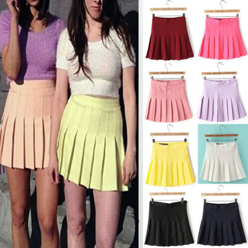 Fashion-Women-Slim-Thin-High-Waist-Wild-Pleated-Tennis-Playful-Skirt-Mini-Dress