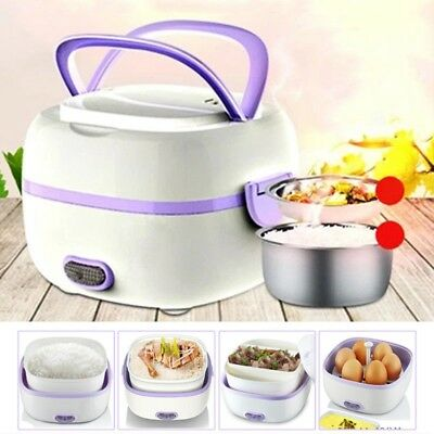 Portable Multifunctional Electric Lunch Box Food Steamer Mini Small Rice Cooker