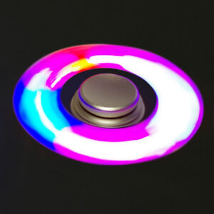 Hand Spinner LED Fidget Toys Aluminum ADHD EDC Autism Anxiety Re