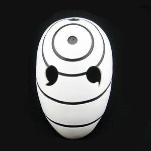 White Naruto Obito Tobi Helmet Costume Mask Full Head Anime Cosplay Halloween