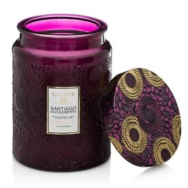 *** VOLUSPA LARGE SANTIAGO AND HUCKLEBERRY SCENTED CANDLE - RRP £34 - BRAND NEW