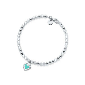 Tiffany and Co. Love heart tag bead bracelet