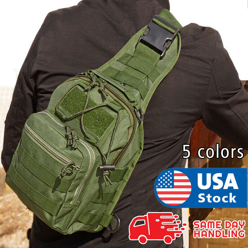 Outdoor Shoulder Chest Bag men Military Tactical Backpack Travel Camping Hiking Camping & Hiking