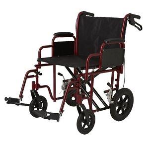 Medline Bariatric Transport Chair - Deluxe / Heavy Duty