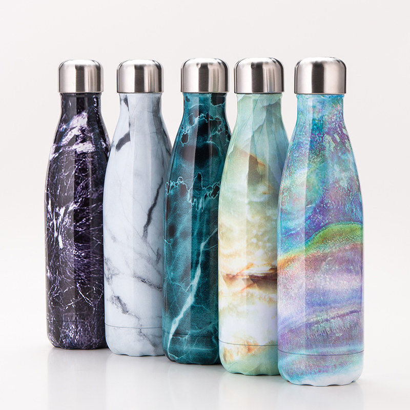 Stainless Steel Vacuum Insulated Bottle Water Drinks Flask T