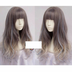 Blue and Grey high quality wig