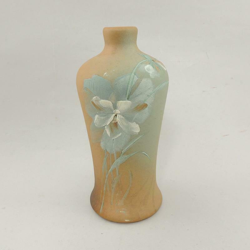 J.B. OWENS Ohio Art Pottery Matt Utopian Vase Artist Signed EXC