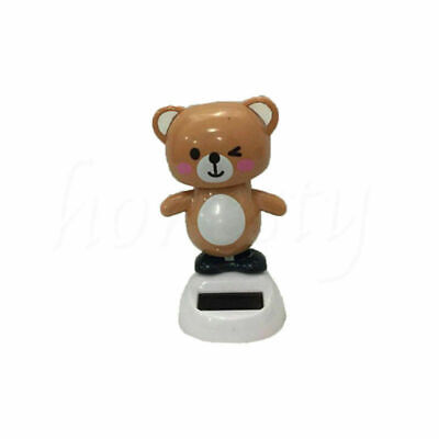 Cute Bear Animal Solar Powered Dancing Car Home Decor Halloween Xmas Gift Toys