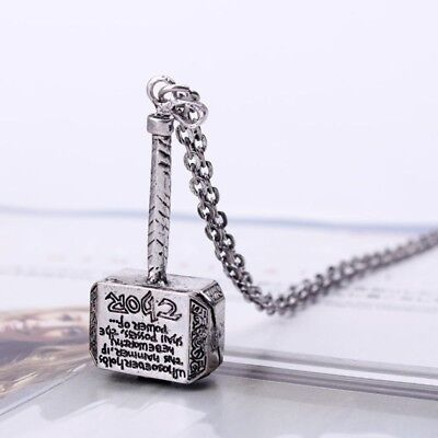 Hot Movie Marvel Comics Avengers Thor Hammer Pendant Necklace Chain Men Jewelry - Avengers Jewelry