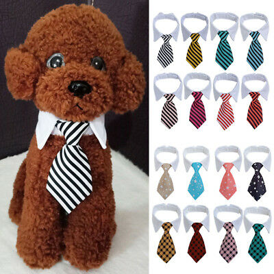 Lovely Cat Dog Striped Tie Collar Pet Adjustable Neck Tie Necktie Party Wedding - Dog Wedding Collar