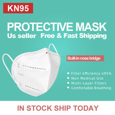 50Pcs KN95 Protective 5 Layers Face Mask, BFE 95%, PM2.5, Disposable Masks