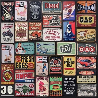 Vintage Man Cave Cafe Garage Metal Tin Sign Wall Decor Retro Art Plate Poster](Retro Decoration)