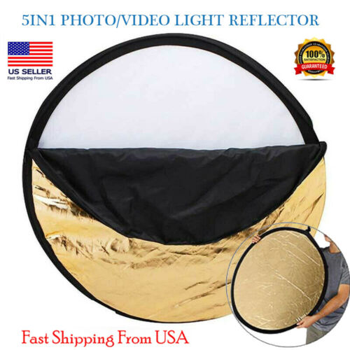 24in - 5IN1 MULTI PHOTO DISC COLLAPSIBLE LIGHT REFLECTOR PHOTOGRAPHY STUDIO