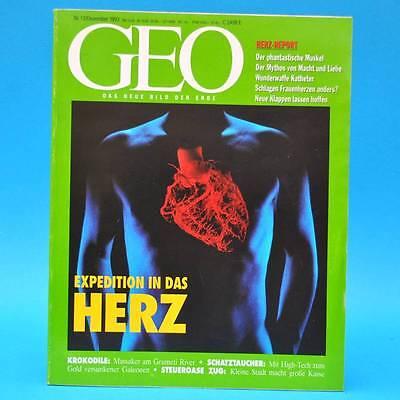 GEO Magazin 12/1993 Herz-Report Krokodile Ost-Industrie Schatztaucher Zug CH