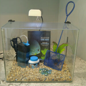5-Gallon 'curved corner glass' aquarium
