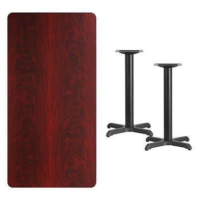 30 X 60 Rectangular Mahogany Laminate Table Top W 22 X 22 Table Ht Base