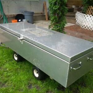 "Reduced- For Sale ""Large Aluminum Storage unit/box"""