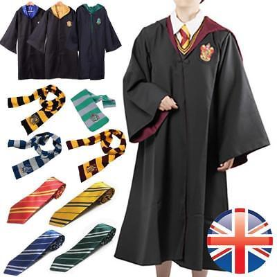 Adult/Kids Harry Potter Cloak Hogwarts Uniform Robe+Tie+Scarf Cosplay Costume - Hogwarts Uniform Costume