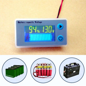 BATTERY CAPACITY TESTER CHARGING MONITOR METER VOLTAGE CURRENT VOLTS LCD UK