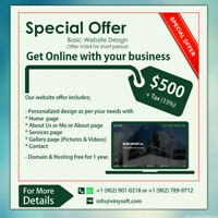 SPECIAL WEBSITE DESIGN OFFER
